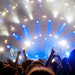 Crowd of fans at a concert — Stock Photo #5853259