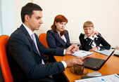 Three business are meeting — Stock Photo