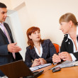 Three business are meeting — Stockfoto