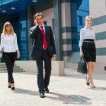 Business walking i — Stock Photo