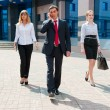 Business walking i — Stock Photo