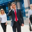 Stock Photo: Business walking i