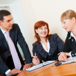 Three business are meeting — Stock Photo #6236592