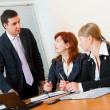 Stockfoto: Three business are meeting