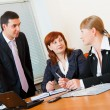 Foto de Stock  : Three business are meeting