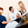 Married couple consults at the psychologist - Stock Photo