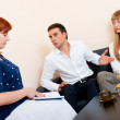 Married couple consults at the psychologist — Stock Photo #6236637