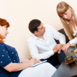 Married couple consults at the psychologist — Stock Photo