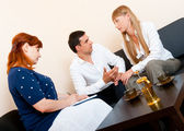 Married couple consults at the psychologist — 图库照片