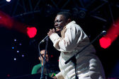 Lucky Peterson sings — Stock Photo