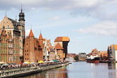 Motlawa river quay in Gdansk, Poland — Stock Photo