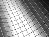 Abstract aluminum curve square pattern background — Stock Photo