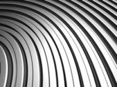 曲線形銀アルミニウム ストライプ背景 — ストック写真