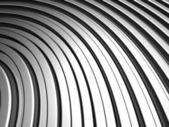 Fundo de listra curva forma prata alumínio — Foto Stock