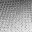 Aluminum silver tile pattern background - Stock Photo