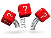 Dynamic and active question concept — Stock Photo