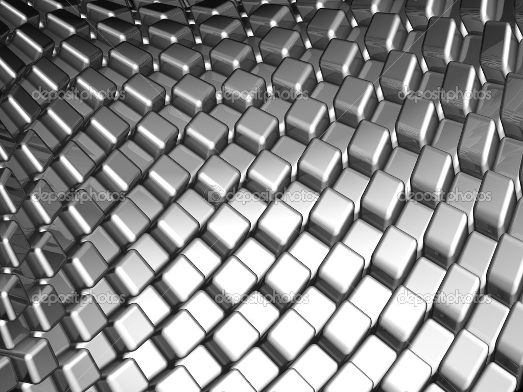 Abstract aluminum dynamic cube background — Stock Photo ...