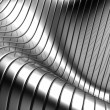 Aluminum abstract silver stripe pattern background — Stock Photo