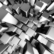 Abstract dynamic metal block background — Stock Photo