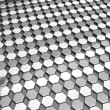 Hexgon pattern silver background — Stock Photo