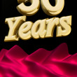 Stock Photo: Golden 50 years anniversary ceremony