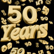 Golden 50 years anniversary — Stock Photo