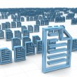 Electronic data storing and hosting concept - Stock Photo