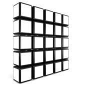 Cube photo frame gallery concept — Stock Photo