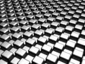Aluminum silver square pattern background — Stock Photo