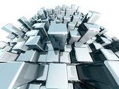 Abstracte blok stedelijke stad weergave concept — Stockfoto