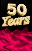 Golden 50 years anniversary ceremony — Stock Photo