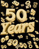 Golden 50 years anniversary — 图库照片