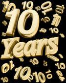 Altın 10 yıl yıldönümü — Stok fotoğraf