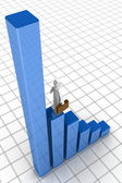 Business growth financial chart concept — Stock Photo