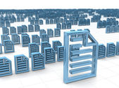 Electronic data storing and hosting concept — Stock Photo
