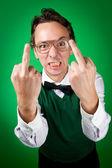 Angry nerd — Stock Photo