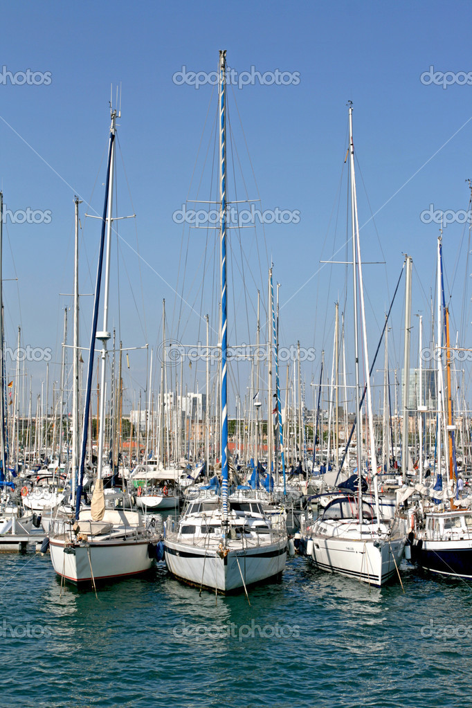 Three yachts — Foto Stock #6704216