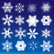 Decorative snowflakes. Vector illustration — Stock Vector #6393456