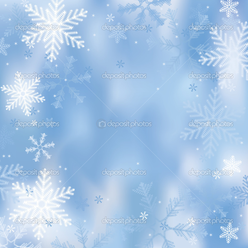 Winter background with snowflakes — Stock Vector #6399028