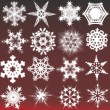 Decorative snowflakes. Vector illustration — Stock Vector