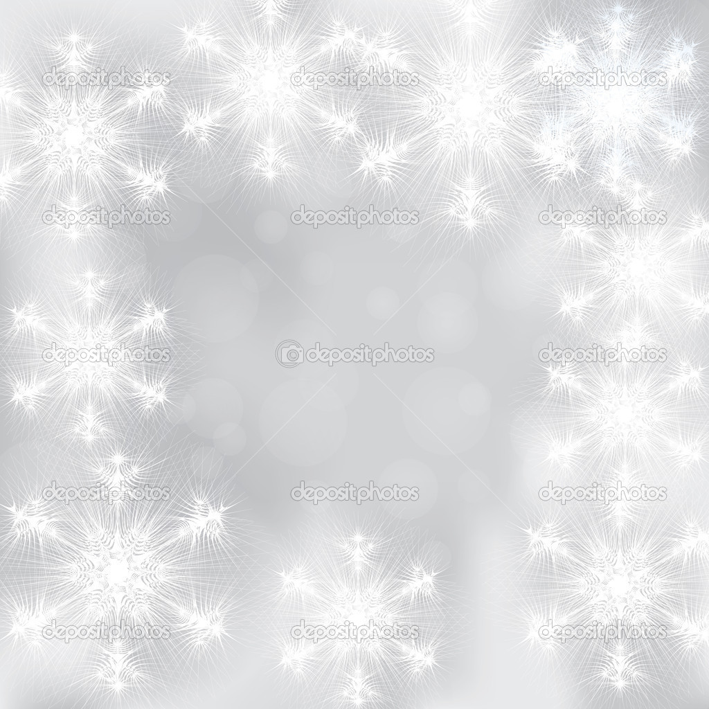 Winter background with snowflakes — Stock Vector #6666709