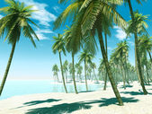 Isla tropical — Foto de Stock