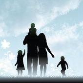 Happy family — Stockvektor