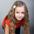 Curly little girl — Stock Photo