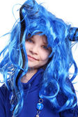 The blue wig — Stock Photo