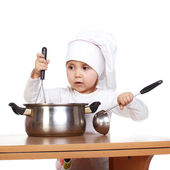Cute little cook — Stock fotografie