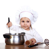 Cute little cook — Stock Photo