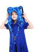 Blue wig — Stock Photo