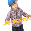 Cute little builder — Stock Photo