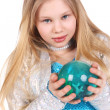 Girl and ball — Stock Photo